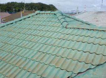 しかし、よく見てみると、普段目に付かない屋根の上はこんなにも汚れてしまっています。