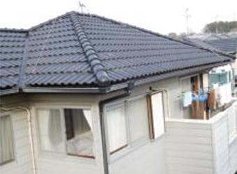 こちらも別角度の屋根の写真。