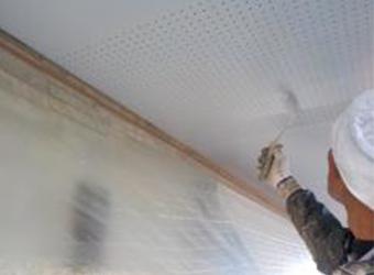 一部、軒天の塗装がありました。こちらはニッペのケンエースG-2で塗装します。