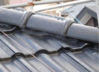 別角度の屋根、漆喰です。こちらも問題ありません。