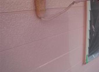 外壁の上塗りの経過です。