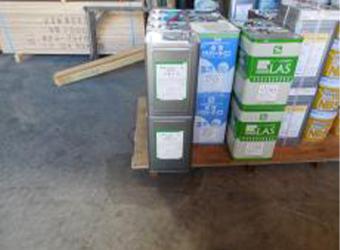 屋根用材料の希釈用に使用したミズタニのRMシンナーです。