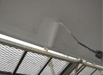 軒天はケンエースを使用して仕上げです。