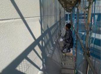 上塗りが終われば外壁部分の塗装は完了です。